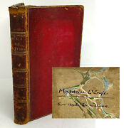 1794 The Man Of Feeling. Madeleine L'engle Personal Copy From Uncle Joe Williams
