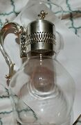 Vintage Glass Coffee Pot Carafe Pitcher W/ Silver Plate Handle And Lid