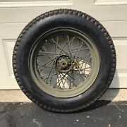 Wwii Us Army Harley Davidson Motorcycle Wheel And Tire