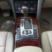 Peach Wood Grain Gear Shift Panel Inner Decoration Cover For Audi 2005-11 A6 C6