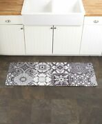 Tiles Spring Floral Kitchen Runner Rug Mat Country Rustic Summer Home Decor