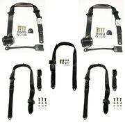 Complete Retractable Seat Belt Kit For Mazda Rx2 1972-75 Coupe Bucket Seats S122
