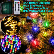 1/4pack 100led String Lights Waterproof Copper Wire Fairy Christmas Garden Us