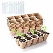0 Cells Seed Starter Peat Pots Biodegradable Sprouting Seedling Trays For 10
