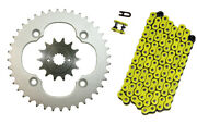 Yellow 520x96 O-ring Drive Chain And 14/40 Sprockets 2009-14 For Suzuki Quadsport