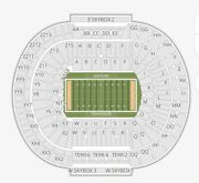 4 Tennessee Vols 2021 Season Football Tickets -in Dry With Seat Back Cushions