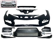 Fits 2020-2021 Toyota Corolla Front Bumper Cover Complete Grille Molding Drl Fog