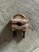 """Homac 2755-e-50 Bronze Ground Clamp, Cable Size 300-500 To Pipe / Rod 7/8""""-1"""""""