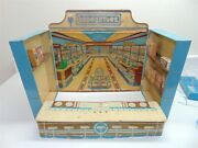 Vintage Wolverine Toys Drug Store With Wood Products-sign-soda Fountain-rare