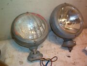 Tractor Ford Oliver Rat Rod Headlamp And Mounts 5 1/4 Bulb