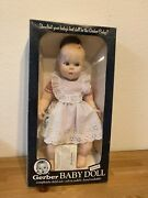 Vintage 1979 Gerber, 17 Baby Doll, White Gingham, 50th Anniversary, Moving Eyes
