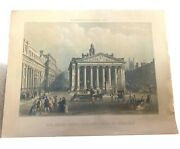 R. Ackermannand039s Series N95   Engraved Print   The Royal Exchange Bank Of England