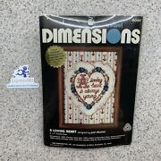 Do New 1980 Dimensions Crewel A Loving Heart By Pat Zitomer 5 X 7 6044