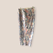 Lane Bryant 30/32 Livi Active French Terry Capri Cropped Pants Periwinkle New