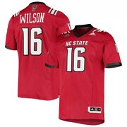 Adidas Menand039s Ncaa Nc State Wolfpack Russell Wilson 16 Alumni Football Jersey