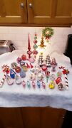 Jewel Brite And Bradford Vintage Hard Plastic Ornaments, Tree Toppers And Other