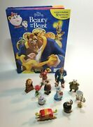 Disney Princess Beauty And The Beast My Busy Books Playset 12 Figurines Complete