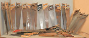40 Vintage Collectible Handsaw Woodworking Saw Lot Craft Paint Tool Parts Repair