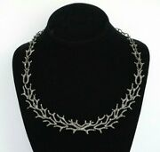 Natural Diamond Deer Antler Necklace 925 Sterling Silver Diamond Fashion Jewelry