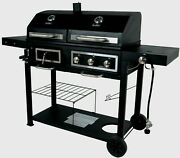 Bbq Grill Gas Charcoal Barbecue Smoker Side Burner Meat Cooker Gbc1793w Combo