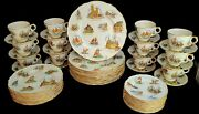 Dinner Service For 12 Royal Winton Le Vieux Old Canada 1953 Really Rare Scenic