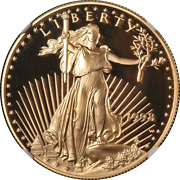 1998-w Gold American Eagle 50 Ngc Pf70 Ultra Cameo Brown Label - Stock