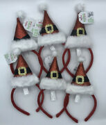 Claire's Santa Hat Headband - Pack Of 6 - Christmas Holiday Party - Girls/women