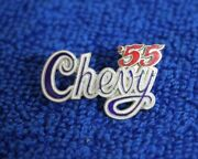 Vintage Chevrolet And03955 Hat Lapel Pin Accessory Badge Tri--five