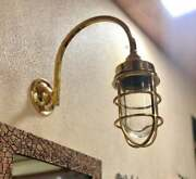 Nautical Arched Swan Neck Exterior Antique Galvanized Wall Decoration Light