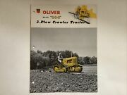 Oliver Model Oc-6 3-plow Crawler Tractor 12 Pages 1954