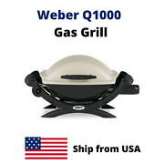 Portable Weber Q1000 Bbq Gas Grill Barbeque Stainless Steel Burner