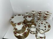 Royal Albert Old Country Roses 82 Pcsservice For 15vintage English Bone China