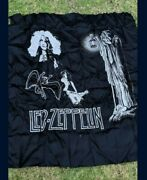 Led Zeppelin Bandw Wall Hanging Tapestry Banner. Swan Song, Hermit, Jimmy Page