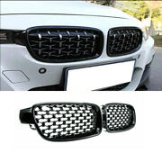 Pair Front Bumper Kidney Grille Mesh Grill Fits Bmw F30 320i 328i 335i 2012-2017