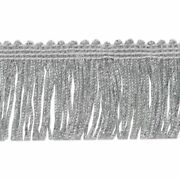 Expo Metallic Chainette Fringe 2 Wide 20 Yards-silver