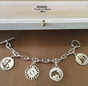 Hermes Chene Dunkle Bracelet Limited Accessory Engraved Silver Boxed