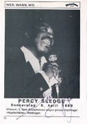 Percy Sledge 1940-2015 Autograph Signed 4x6 Photo When A Man Loves A Woman