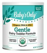 Baby's Only Organic Whey And Dairy Protein With Dha And Ara Gentle Toddler Formul...