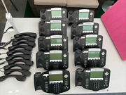 Lot Of 10 Polycom Soundpoint Ip 550 Phones 2201-12550-001 With Stands And Handsets