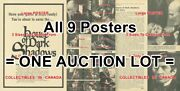 House Of Dark Shadows 1971 Garlic And Cross Ready =all 9 Posters 3 Sizes 17-18-19