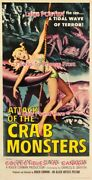 Attack Of The Crab Monsters 1957 Terror Sci-fi =poster 3sizes 4 Ft / 6 Ft / 7 Ft