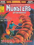 Monsters Of The Movies Annual 1975 Spock Sci-fi=poster Comic Book 8sizes 17-3ft