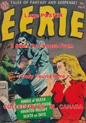 Eerie 1952 9 Skeleton Ghost Open Grave Bats = Poster Comic Book 8 Sizes 17-3ft