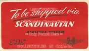 Scandanavian Airlines 1940and039s Shipped Via Sas=luggage Label Poster 6sizes 14-6ft