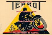 Terrot Motorcycle 1932 Goggles French Bicycle = Poster 10 Sizes 17 - 6 Feet