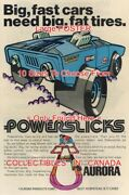 Powerslicks 1971 Toy Fast Cars Fat Tires =poster Comic Book 10 Sizes 17 - 4.5ft