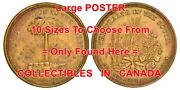 Wealth Of The South 1860 Palm Tree Cannon = Poster Coin / Token 10 Sizes 17-7ft