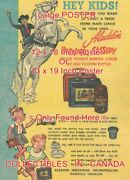 Hopalong Cassidy 1952 Lunch Box Thermos = Poster Comic Book 2 Sizes 18 Or 19