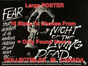 Night Of The Living Dead 1969 Skull Fear = Movie Poster 10 Sizes 17-4.5 Feet