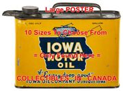 Iowa Oil Company Every Drop Good Dubuque =poster Motor Oil Can 10sizes 17-4.5ft
